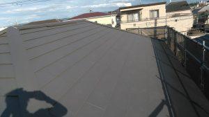 金属屋根の重ね葺き♪/アイジ-工業「ス-パ-ガルテクト」 外壁/ダイフレックス「ス-パ-セランフレックス」