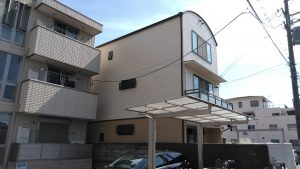 通し柱の腐食を発見!外壁塗装工事 日本ペイント/パ-フェクトトップ