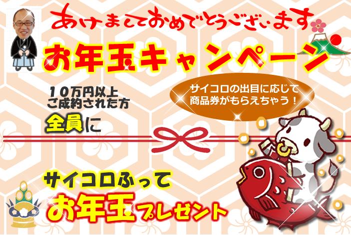 2021新春★お年玉キャンペーン実施中★(1月末迄)